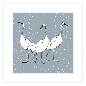 Geese on Blue/Grey
