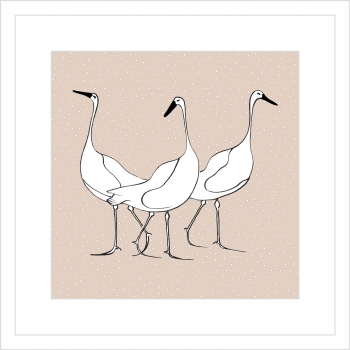 Geese on Dusky Pink
