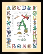 Personalised Alphabet picture for