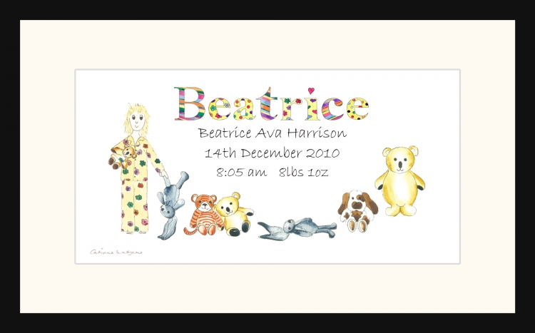 Personalised Personalised Christening picture for Beatrice