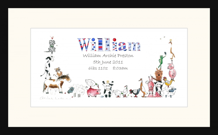Personalised Personalised Christening picture for William