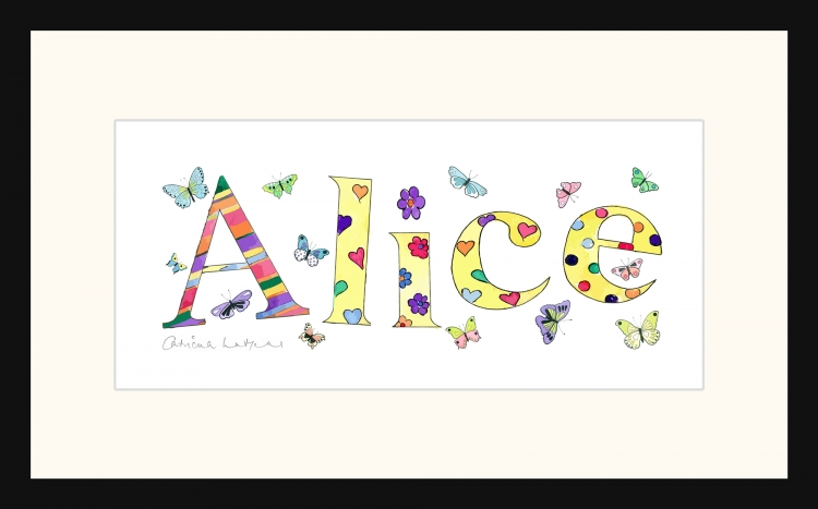 Personalised Name picture for Alice