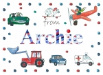 Personalised Personalised postcard for Archie