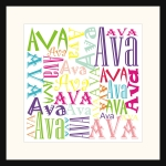 Personalised Square Name picture for Ava