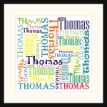 Personalised Square Name picture for Thomas