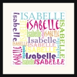 Personalised Square Name picture for Isabelle